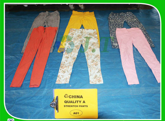 Hot Selling and Good Looking Ladies Secondhand Clothing Strentch Pants From Dubai