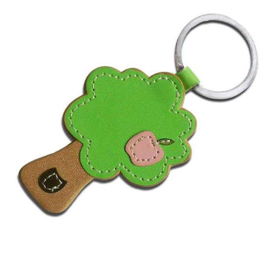 PU Leather Zinc Alloy Key Chain with Custom Size (YB-PK-01)