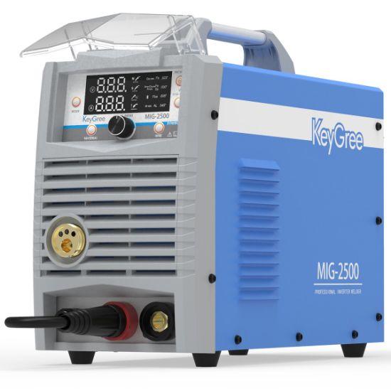 Keygree IGBT Synergy 200 AMP CO2 Multi-Process Arc MMA/Lift TIG/Mag/MIG Portable Inverter Welding Machine Can Weld Aluminium (MIG-2500)