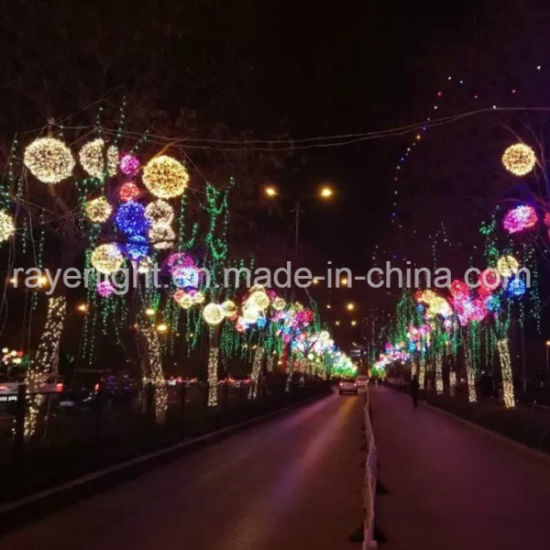 Colorful New Year Outdoor Christmas Led Light Balls