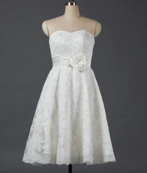 2019 Strapless Short Bridal Dresses For Wedding W083