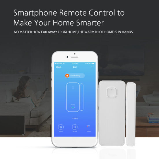 Cheapest Window or Door Magnetic Contacts WiFi Tuya Door Sensor Smart Home