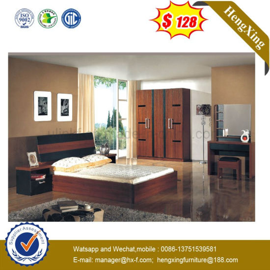 Modern Home Double Bed Laminated Living Bedroom Furniture (UL-L8807)