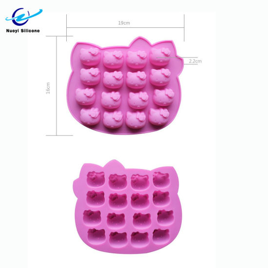 Colorful Design Hello Kitty Silicone Ice Cube Mould