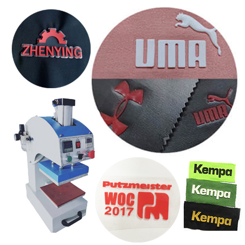 Silicone Heat Transfer Press Clothing Label T Shirt T-Shirt Clothes Embossing Machine for Garment Fabric Textile