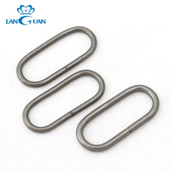 Cheap Metal Silver Nickel Oval O Ring for Handbag