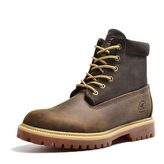 Factory Wholesale Durable Slip-Resistant High-Cut Combat Army Desert Boots for Men