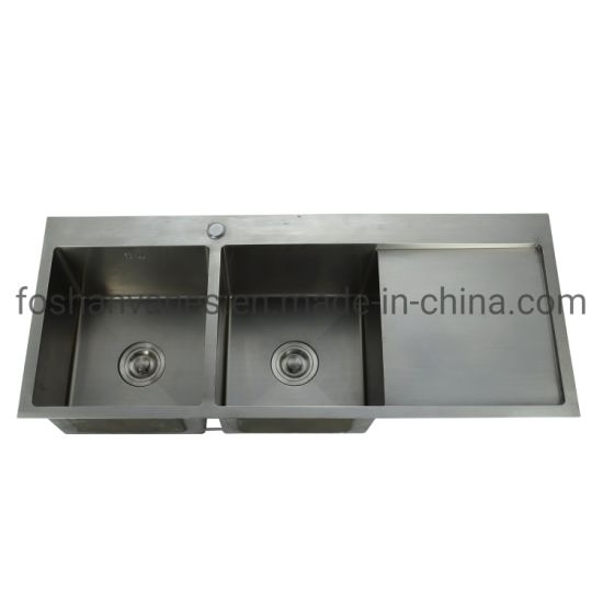 Handmade Ss Sink Double Basin Kitchen Sink Undermounted Double Bowl Sink Ls-11651A