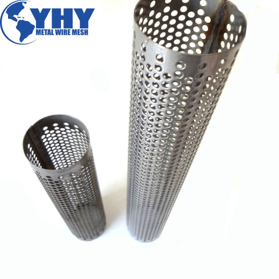 Round Punched Openings Metal Perforated Pipe pictures & photos