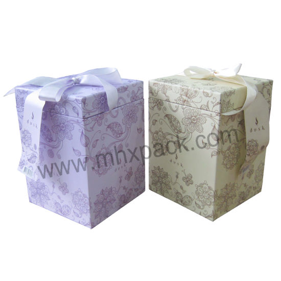 Colorful Christmas Paper Packaging Gift Box with Bowknot