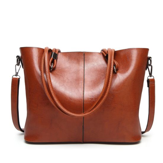 Ladies' Soft Leather Tote Handbags Shoulder Bag Big Capacity Handbag