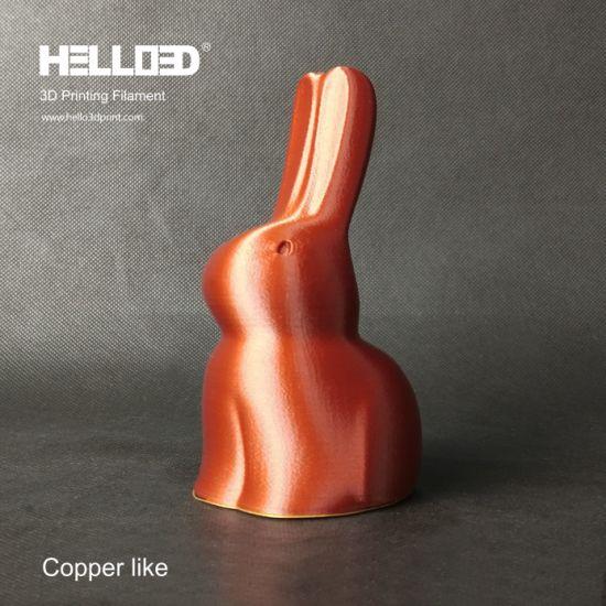 Hello3d Copper Filament 1.75mm PLA 3D Printing Filament