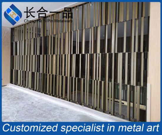 Customized High-End Exterior Stainless Steel Decorative Backgroud Curtain Wall