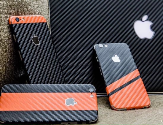 Carbon fiber vinyl sticker making software for mobile