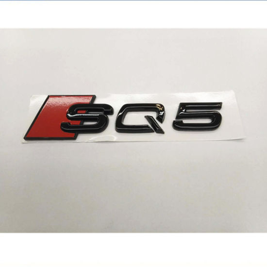 "New Large Size Matte Black Audi /"" RS 4 /"" ABS Number Letters Emblem Badge Sticker"