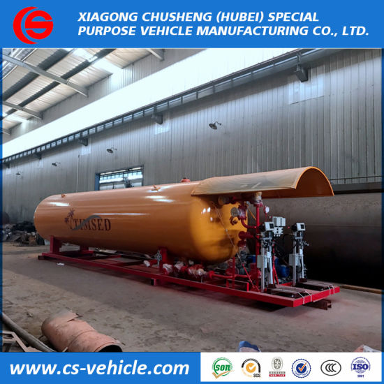 20000L Bulk Gas Tank, 20m3 LPG Filling Plant, Double Nozzle Dispenser 10t 10tons LPG Skid Station