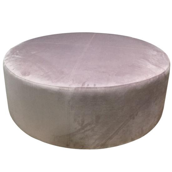 Upholstered Velvet Ottoman Coffee Table