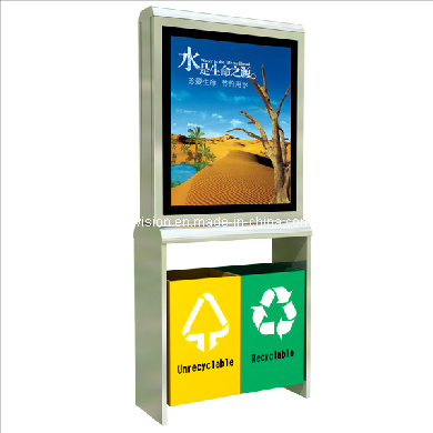 Outdoor Trash Bin Scrolling Billboard Advertising