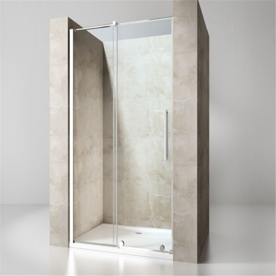 Bathroom 8mm Big Roller Sliding Door Shower Enclosure