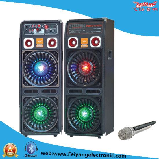 Feiyang Temeisheng 2X10'' Professional DJ 2.0 Wooden Speaker Box with Big Amplifier Bluetooth F623
