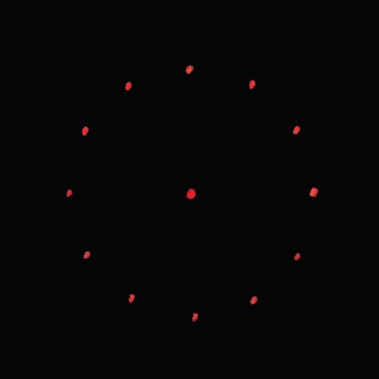 12 Dots Circular Small Laser Gratings Plastic Lens DOE