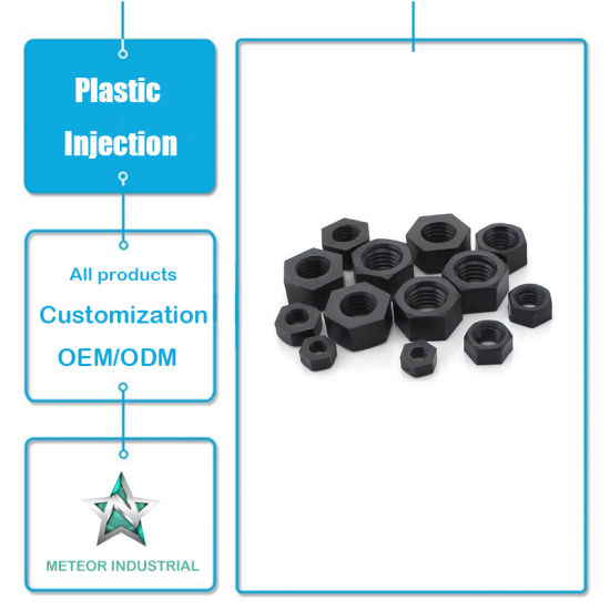 Customized Plastic Injection Moulding Products Plastic Machine Parts Fastener Screw Cap Nuts pictures & photos