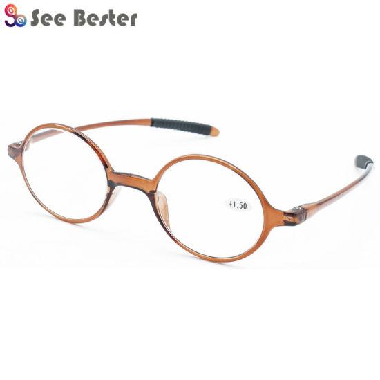 8c532e24d03 2018 New Model Retro Round Eyewear Frame Glasses Tr90 Reading Glasses with  Rubber Tips