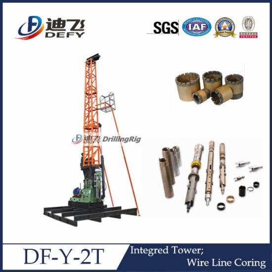 Defy Df-Y-2t Full Hydraulic Portable Wireline Core Drilling Rig
