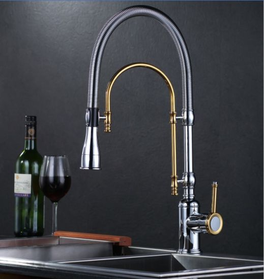 Luxury Design Single Lever Pull Down Kitchen Faucet pictures & photos