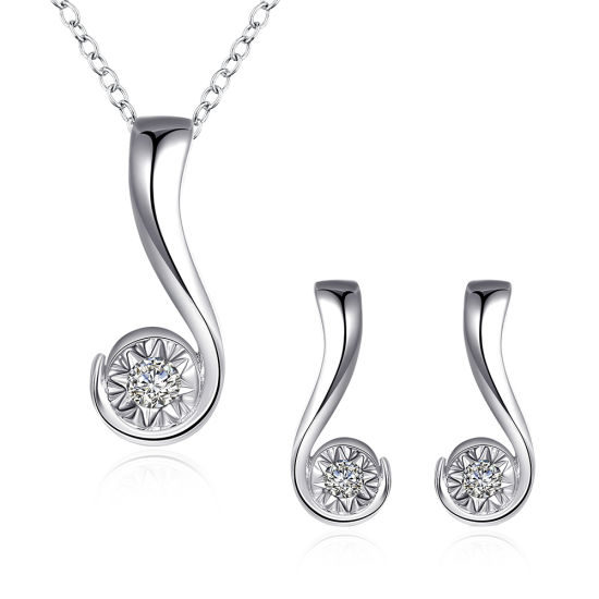 China fashion jewelry set question mark zircon pendant silver plated fashion jewelry set question mark zircon pendant silver plated sets aloadofball Image collections