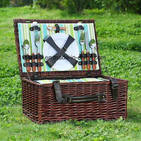 Eco-Friendly Fancy Wicker Camping Picnic Basket Without Dishware Accessories pictures & photos