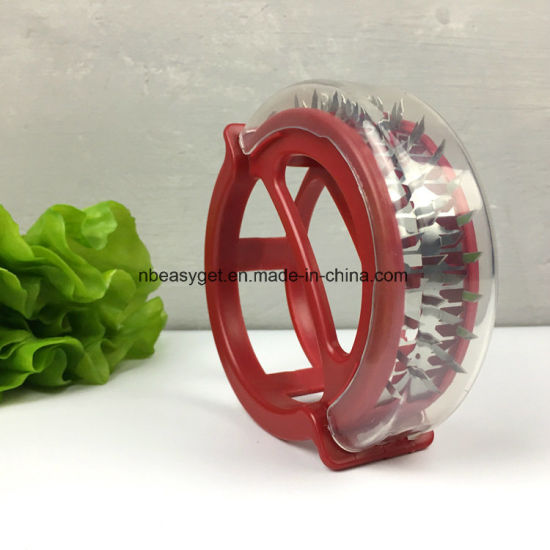 Red Round Portable Meat Tenderizer Roller with 48 Stainless Steel Blades for The Tenderness of Steak, Beef, Chicken, Fish and Pork Esg10393 pictures & photos