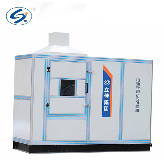 ISO 9001: 2008 Power Battery Safety Crush and Needling Test Machine