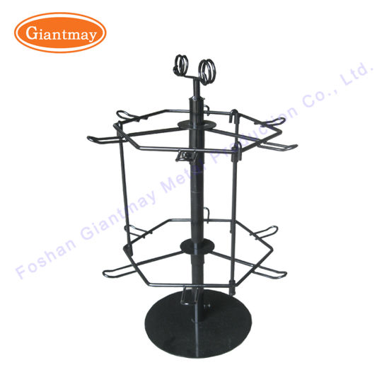 Supermarket Metal Wire Rack Rotating Counter Keychain Holder Display Stand