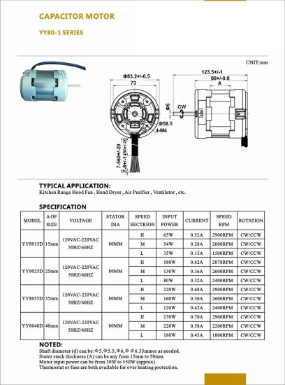 1000-3000rpm AC Hot Wind Clothing Dryer Single-Phase Capacitor Start Motor pictures & photos