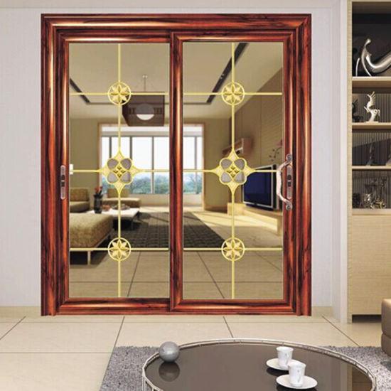 China Aluminium Profile Double Glass Sliding Doors Interior/Exterior ...