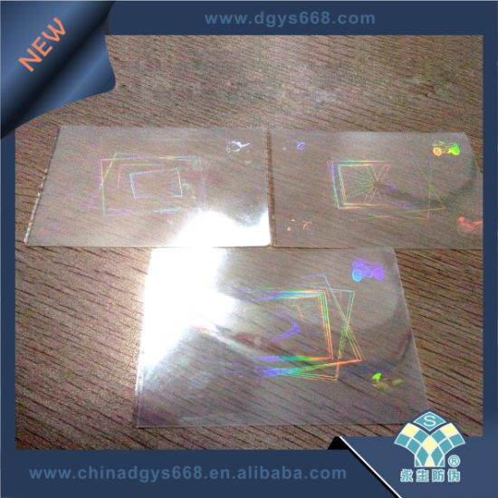 Lamination Id Hologram Transparent Film Custom Card