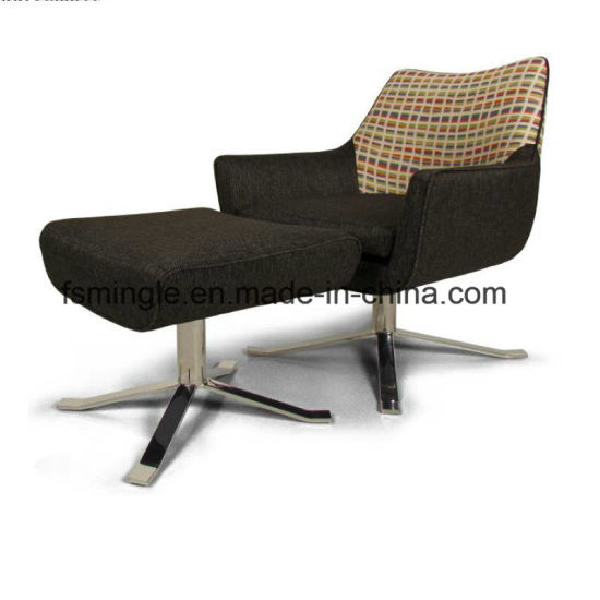 Fantastic Fashion Metal Frame Fabric Lounge Leisure Recliner Chair With Ottoman Footrest Andrewgaddart Wooden Chair Designs For Living Room Andrewgaddartcom