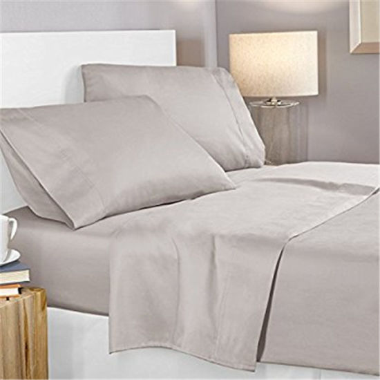100%Polyester Microfiber Soft Bed Sheet Set pictures & photos