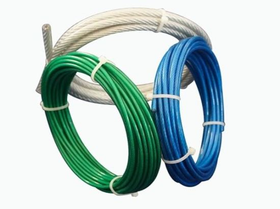 Aircraft Vinyl Coated Steel Cable, 7X7 Galvanized Steel Wire Rope for Fall Protection