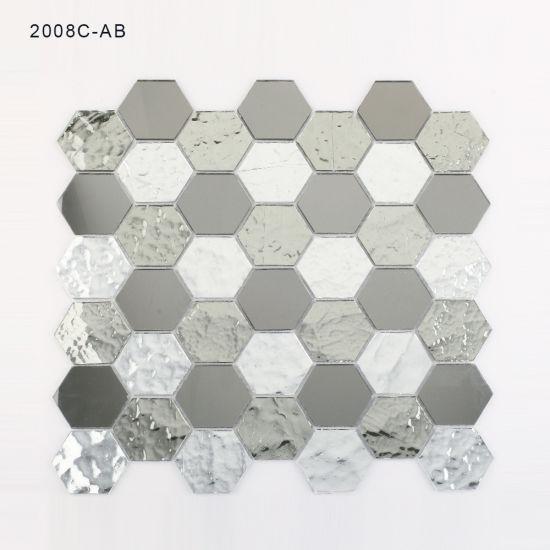 Hexagon Bathroom Wall Backsplash Mirror