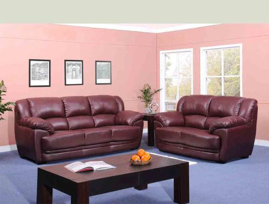 China Living Room Furniture Hotel Leather Sofa - China Sofa, Furniture