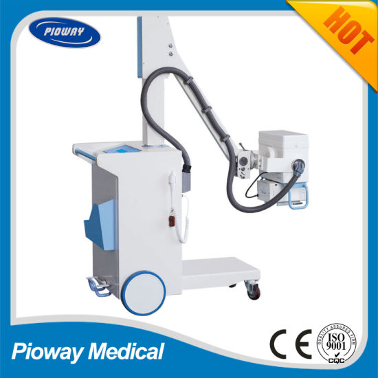 Hot Sale High Frequency Mobile X-ray Equipment with Battery 100mA (PLX101D)