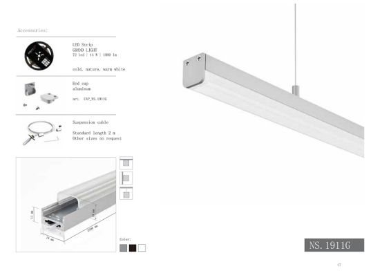 Led Strip Licht : China ns linear aluminium profile diffuser extrusion for led