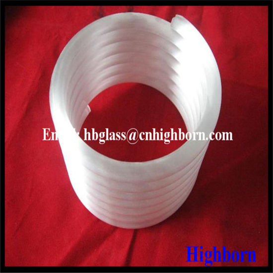 High Purity Opaque Helical Quartz Glass Pipe pictures & photos