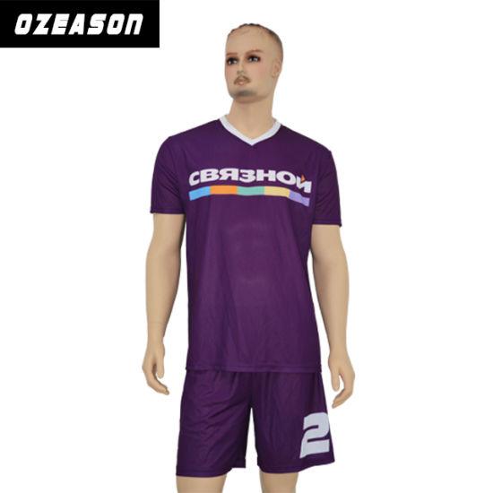 c71e01f11 Free Sample Blank Custom Kids Adult Size Soccer Team Jersey Uniform Kit  Wholesaler pictures   photos