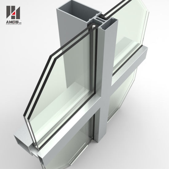 China Double Low E Exterior Building Glass Walls Panels Hidden Frame Glass Curtain Wall China