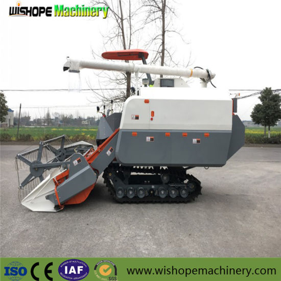 4lz-5.0z Self-Propelled Rubber Crawler Rice Harvester Machine pictures & photos