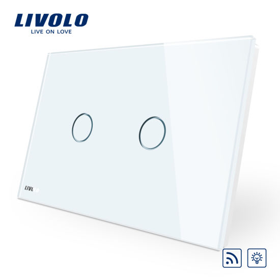 China Livolo Wireless Remote Dimmer 2 Gang Touch Light Switch Vl ...
