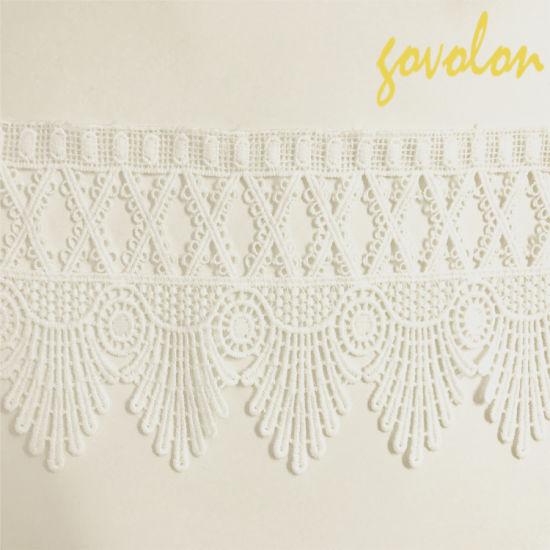 White Customized Textile Cotton Lace